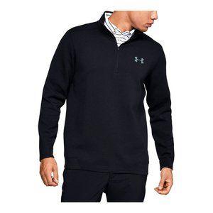 Under Armour Men's Black 1/4 Zip Sweater - Size Large